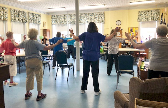 Balance class at South County Senior Center