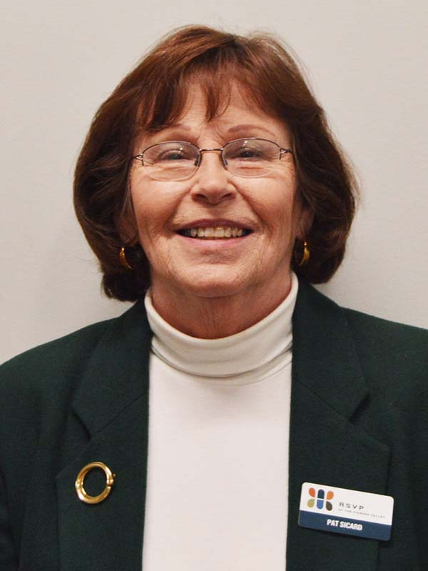 Pat Sicard, RSVP of the Pioneer Valley Volunteer Manager for Hampshire and Franklin counties