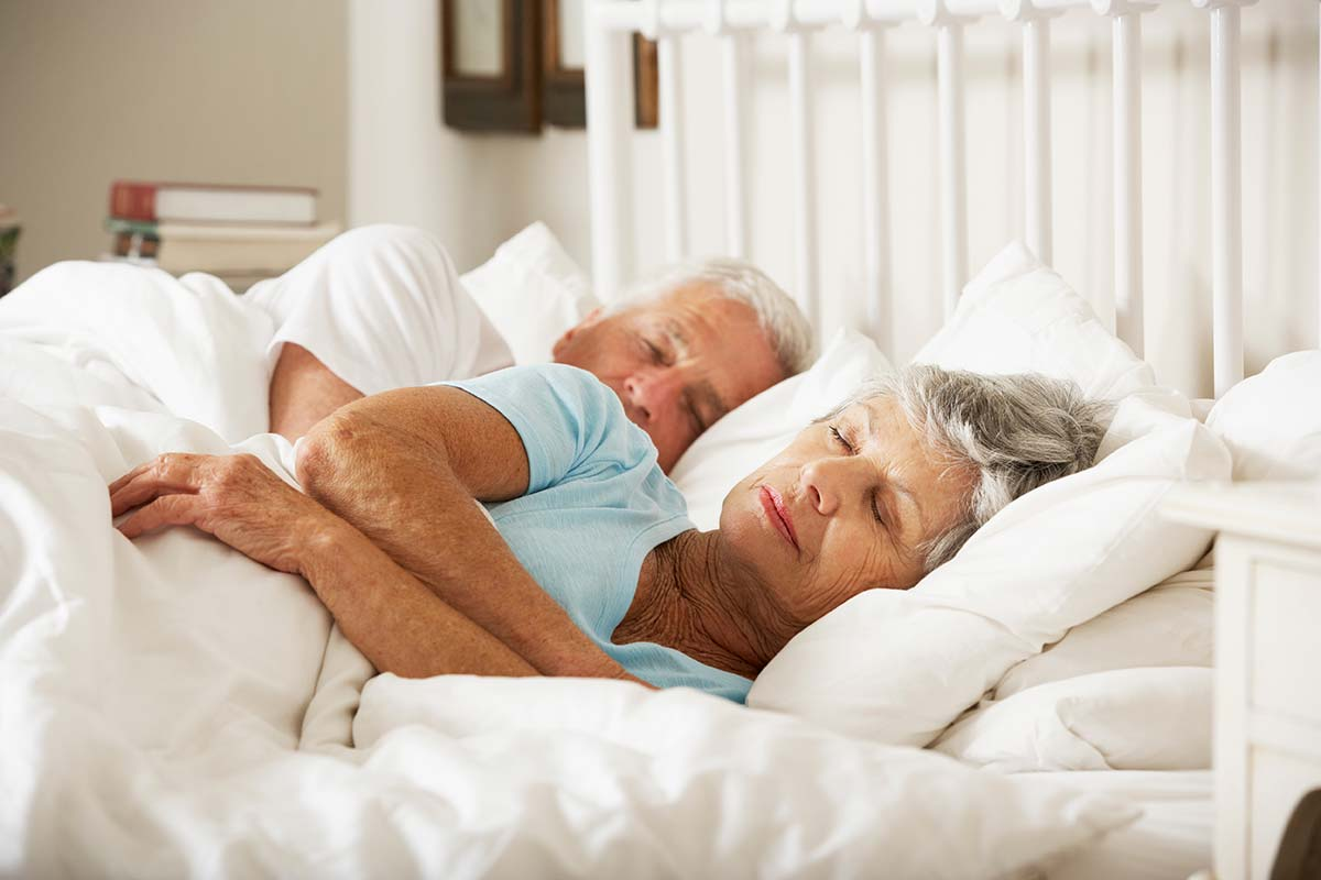 Older couple sleeping