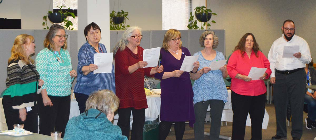 LifePath staff perform for the volunteers