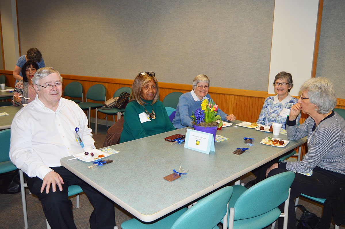 Volunteers attend LifePath's volunteer reception