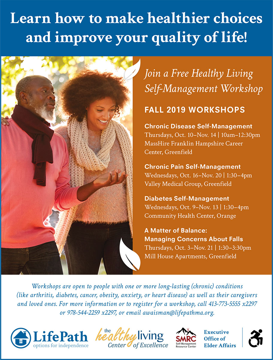 Healthy Living Workshops Flyer, Fall 2019